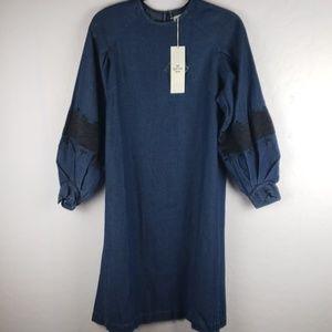 NE QUITTEZ PAS For Anthropologie Chambray Dress